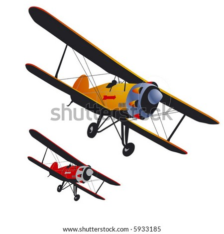 old airplane vector with the