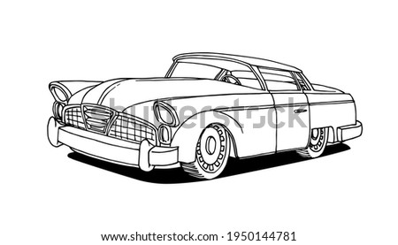 old american retro car of the