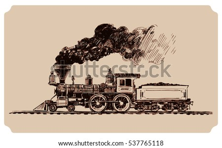 old american steam locomotive ...