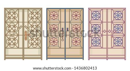 old antique doors in arab gulf
