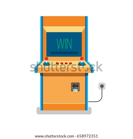 old arcade machine vector