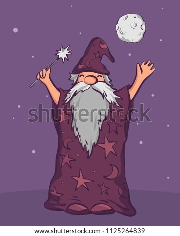 old astrologer wizard ready to