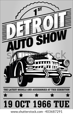 old auto show exhibition