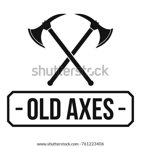Old axe logo. Simple illustration of old axe vector logo for web