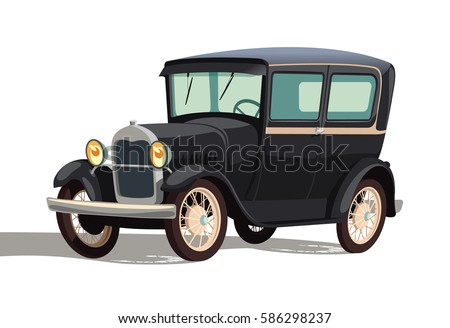 old black car