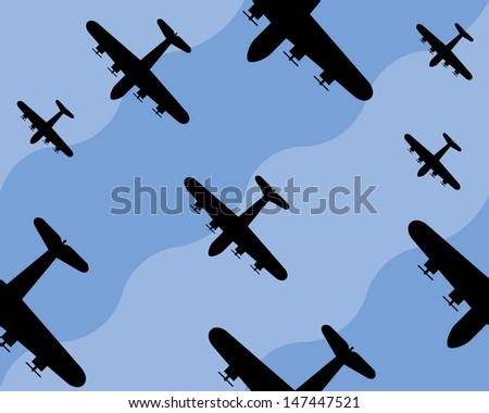 old bomber background  seamless