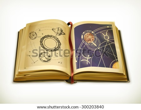 old book  astrology vector icon
