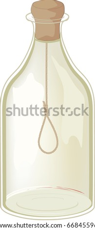 Old bottle  and noose