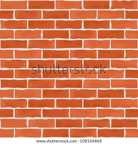 Old brick wall, vector eps10 illustration