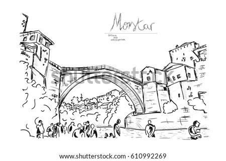 old bridge in the city of