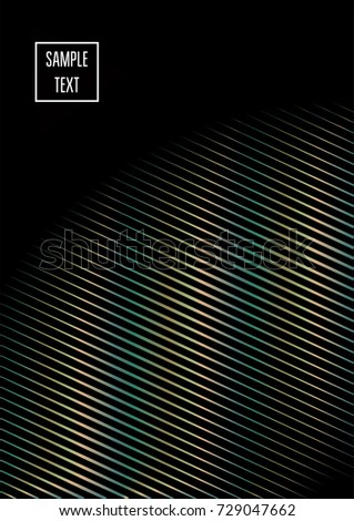 Old Bronze, Old Copper Minimal Cover Template. Jewelry or Craft Ads Poster Design. Festive Sparkling New Year Party or Christmas Celebration Background. Halftone Minimal Cover. Rich, VIP Luxury Design