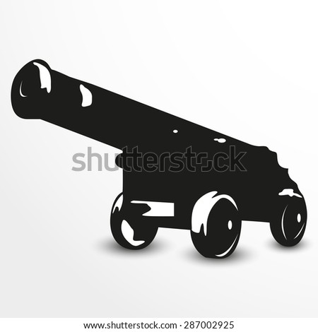 old cannon vector illustration
