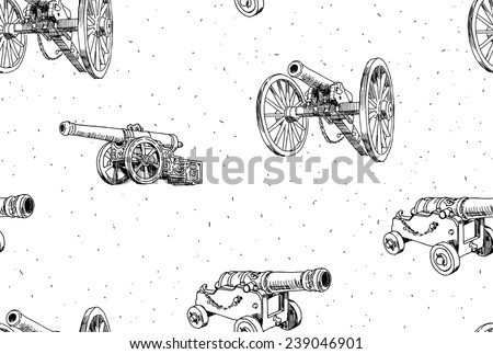 old cannons vector drawings