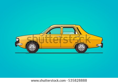 old car design  vector