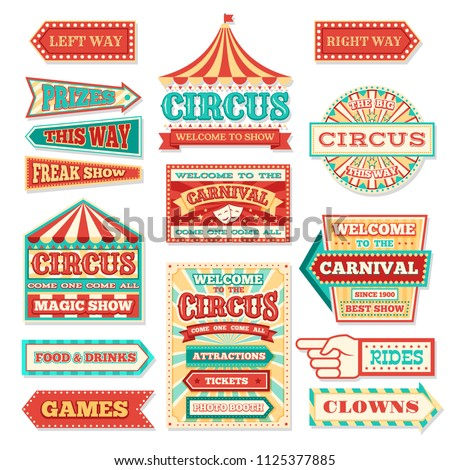 old carnival circus banners and ...