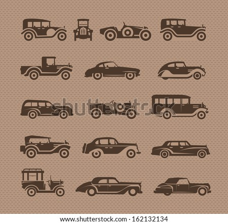 old cars vector format
