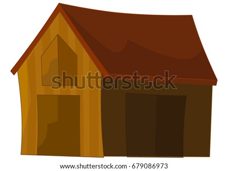 old cartoon wooden house
