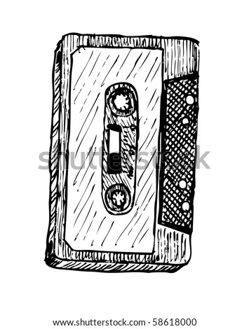 old casette - stock vector