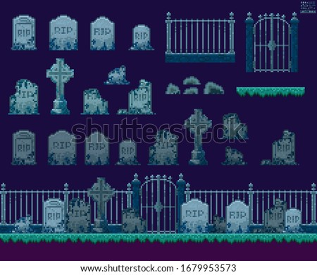 old cemetery design elements