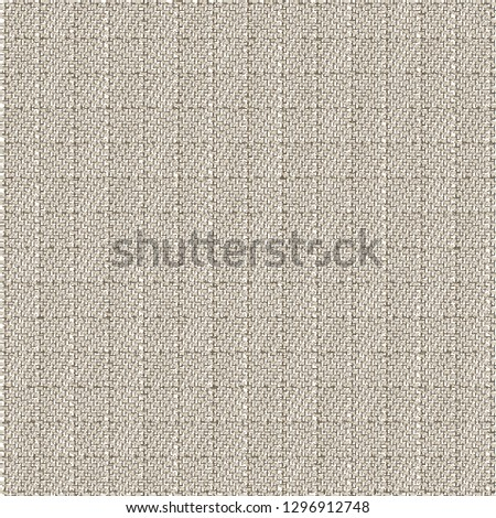 Old checked canvas texture. Dense hemp fabric. Gray sackcloth background. Upholstery. Vintage. Vector illustration.