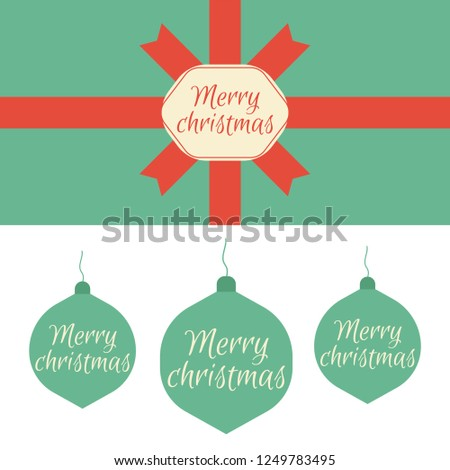 christmas and new year postcard vintage blank