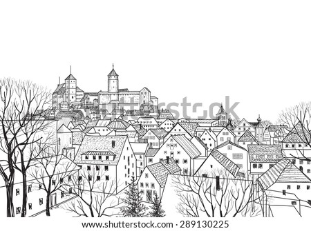 old city view medieval