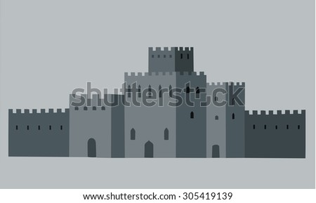 old city  walls   vector