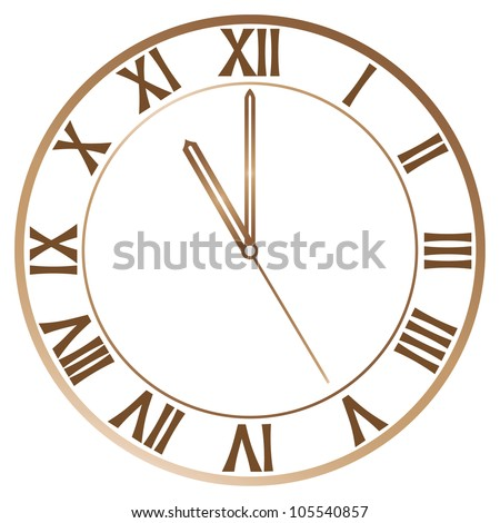 Old Clock With Roman Numbers In Editable Vector Format - 105540857 ...