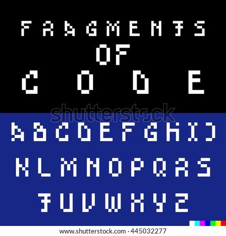 old computer bitmap pixel font