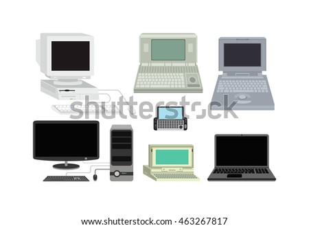 old computer technology vector