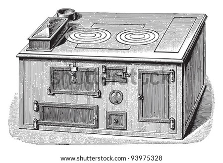 Old cooker / vintage illustration from Meyers Konversations-Lexikon 1897