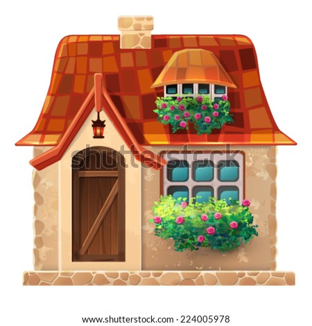 old cottage vector eps 10