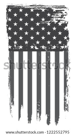 Old dirty flag of United States.American flag in grunge style.