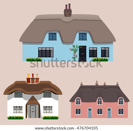 old english thatched cottages