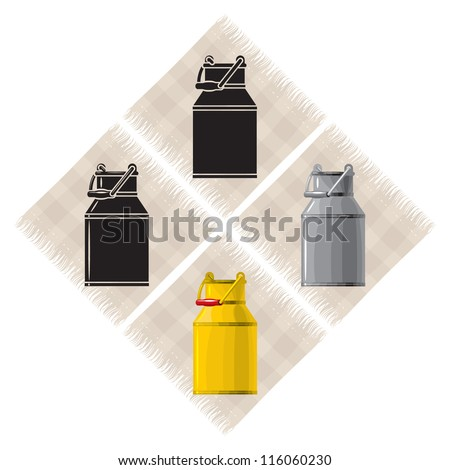Old European metal utensils-cans 2, vector