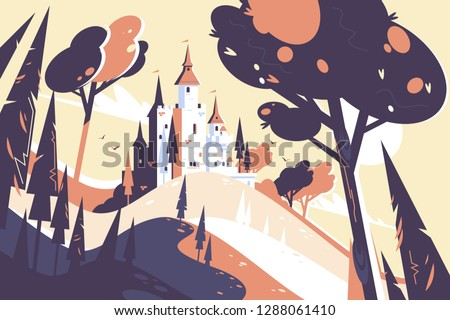 old fairytale castle standing