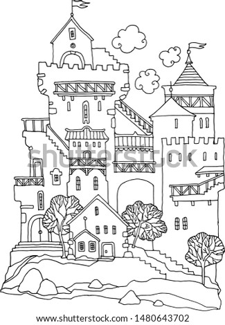 old fairytale castle with