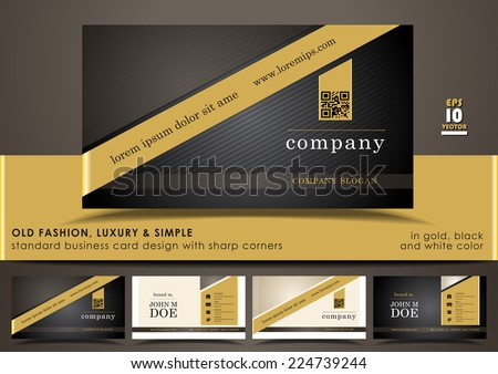 Golden And Black Business Card Download Free Vector Art Stock