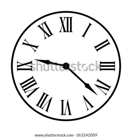old fashion vintage clock face