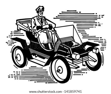 old fashioned car   retro clip