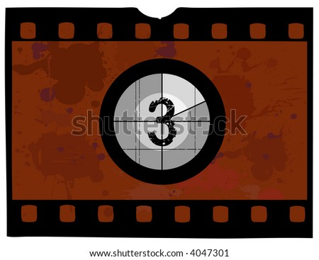 Old fashioned film count down - with the counter at 3
