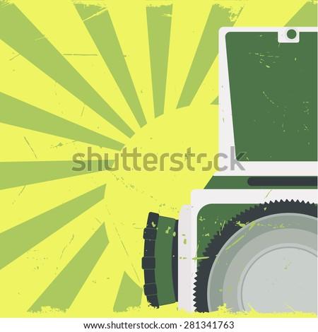 Old-fashioned photocamera