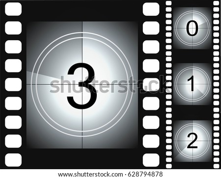 Countdown Vintage Films Download Free Vector Art Stock Graphics