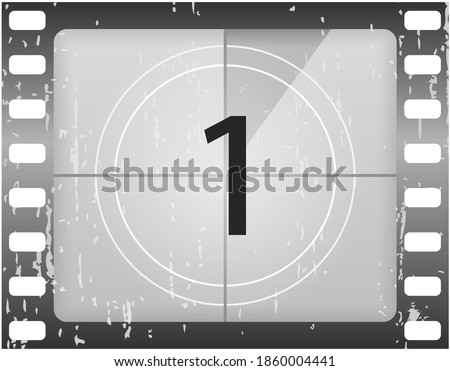 old film movie timer count