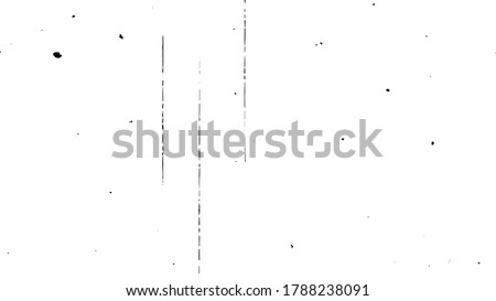 Old film strip, vector illustration, scalable to any size. Dust and debris on film, vector.
