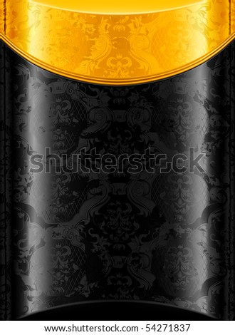 Old Gold and Black background, vector