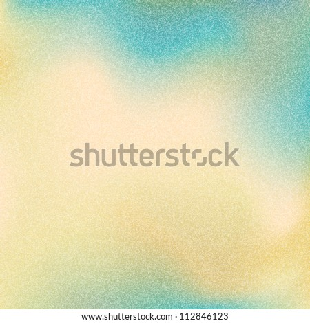 Old grainy texture with noise effect. Vintage yellow, blue and green color background. Blank abstract backdrop with space for text. This vector illustration clip-art design element 10 eps.