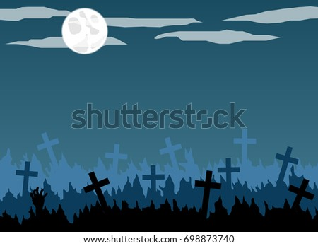 old graveyard with crosses in
