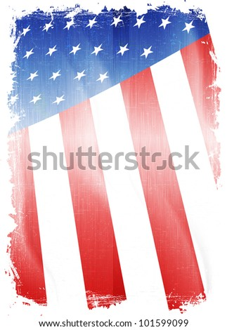 Old grunge flag of usa background vector