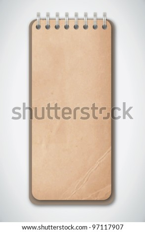 Old Grunge Notebook Vector